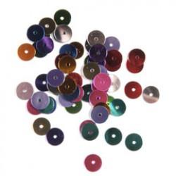 Pailletten 6mm P/500 kleuren mix