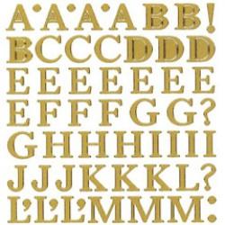 Stickers Hoofdletters goud