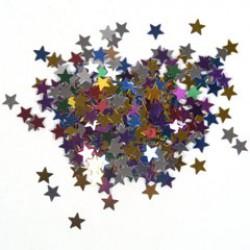 Glitter ster 5mm 10gr mix