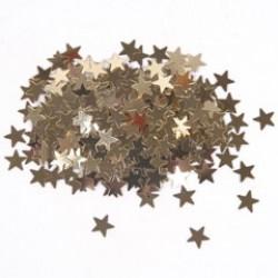 Glitter ster 5mm 10gr goud