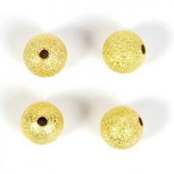 Gold pl. bead 10mm stardust