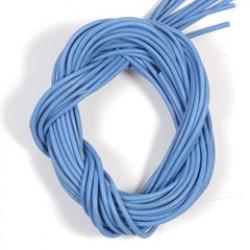 Lederriem 2mm/1m blauw P/10