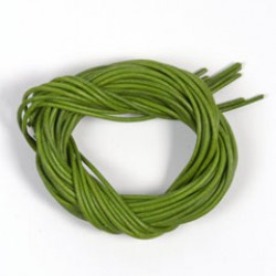 Lederriem 2mm/1m fluo groen P/10