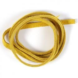 Veloursb 4mmx1m p/1 geel