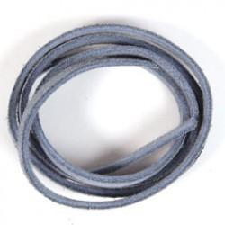 Veloursb 4mmx1m p/1 l.blauw