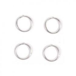 Ring eindeloos 5mm P/10 zilver