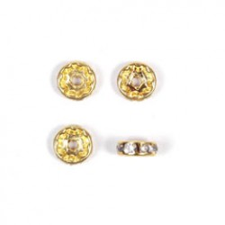 Strass ronde 5mm goud