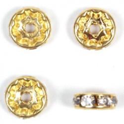 Strass ronde 9mm goud