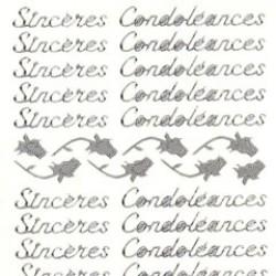 Stickers Sincères Condoléances zilver