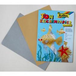Tekenpapier A4 130g P/10 goud/zilver
