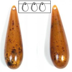 rain drop 40x12mm matt brown 10pieces