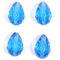Kralen 18x12mm blauw