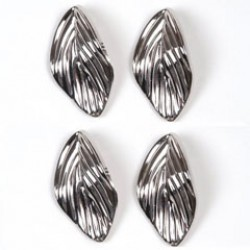 Blaadje 38x21 zilver