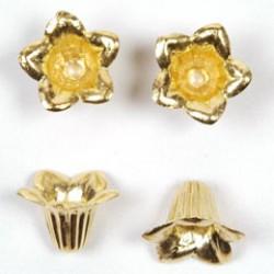 Bloemkelk 16x10mm goud