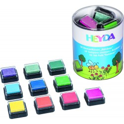 Ink Pad Rainbow 10 colours assort.