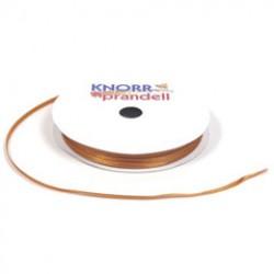 Satin ribbon 3mm x 10m - Brown