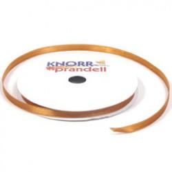 Satin ribbon 6mm x 10m - Brown