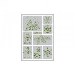Flexible adhesive stencil 148x210mm christmas 2