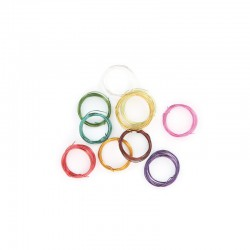 10 assorted coils 1m copper wire 0,5mm