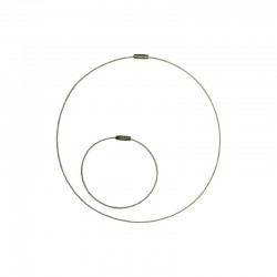 Cable neck ring + bracelet white