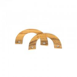 Bag handles wood ''bridge'' 195x90mm 2pcs