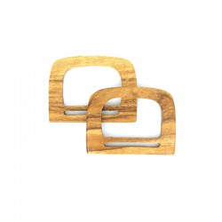 Bag handles wood ''square'' 140x105mm 2pcs