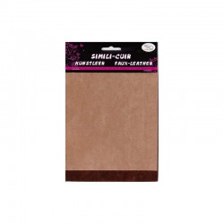 Faux suede 2 sided 16x20cm x2 sheets beige/brown