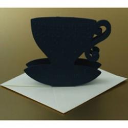 Set kopjes-kaarten donkerblauw