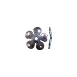 Bead cap large flower 20x20x2mm ant. Silver 8pcs