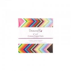 Coloured paper pack 20x20cm 48 sheets 120gr.