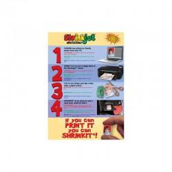 Shrink-Jet printable shrinking plastic 6 sheets A4