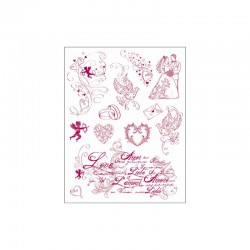 Clear stamps set love
